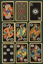 Collectible playing cards  Paleh. Commemorating 150 years of Russian card making